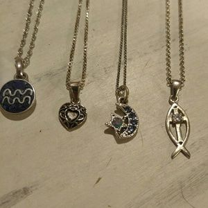 Jewelry - Set of 4 true vintage minimalist necklaces